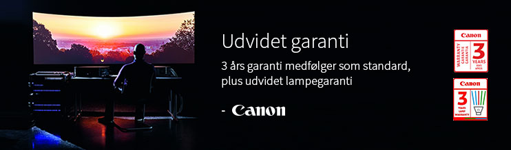 Canons udvidet lampegaranti giver dig tryghed